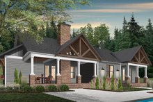 Farmhouse Exterior - Rear Elevation Plan #23-2689