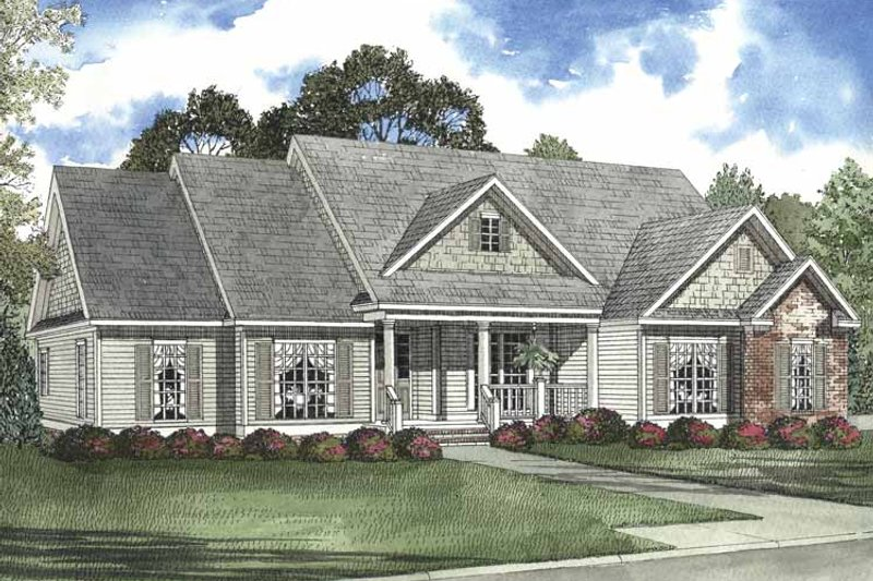 Country Exterior - Front Elevation Plan #17-3207 - Houseplans.com