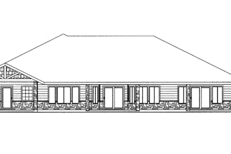 Ranch Exterior - Rear Elevation Plan #117-852 - Houseplans.com