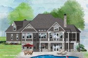 Craftsman Style House Plan - 3 Beds 2.5 Baths 2530 Sq/Ft Plan #929-1103 Exterior - Rear Elevation