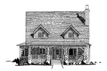 Cabin Exterior - Front Elevation Plan #942-33