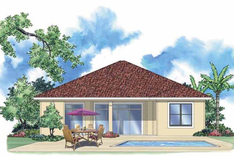 Mediterranean Exterior - Rear Elevation Plan #930-383 - Houseplans.com