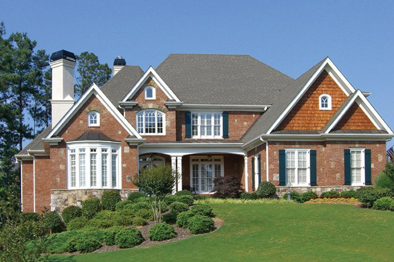 Country Exterior - Front Elevation Plan #54-377 - Houseplans.com