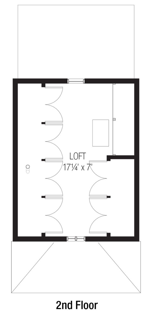 Cottage Floor Plan - Upper Floor Plan Plan #915-4