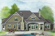 Ranch Style House Plan - 4 Beds 3 Baths 3075 Sq/Ft Plan #929-1087 Exterior - Rear Elevation