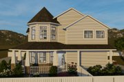 Victorian Style House Plan - 4 Beds 3 Baths 2898 Sq/Ft Plan #1060-51 Exterior - Other Elevation
