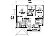 Contemporary Style House Plan - 3 Beds 2 Baths 2163 Sq/Ft Plan #25-4314 Floor Plan - Upper Floor