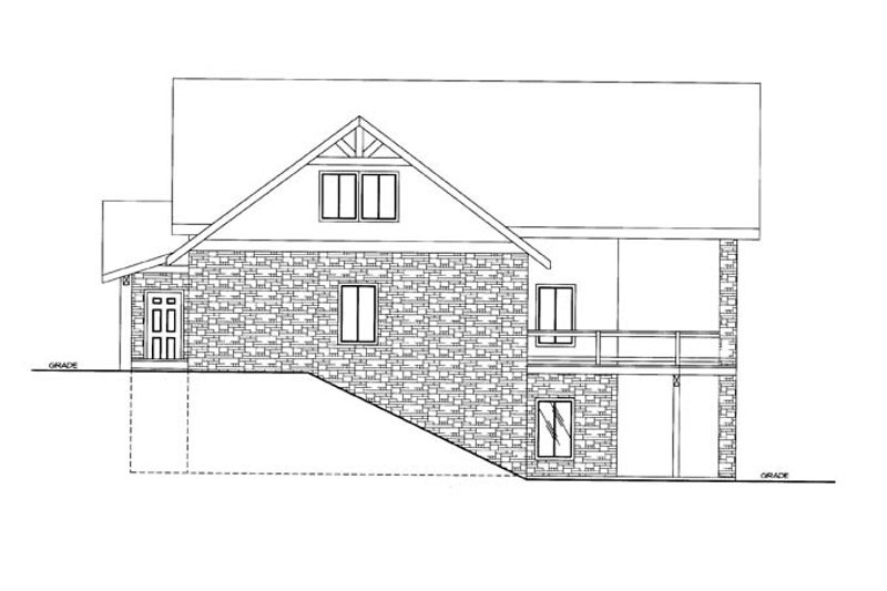 Ranch Exterior - Other Elevation Plan #117-856 - Houseplans.com