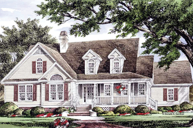 Country Exterior - Rear Elevation Plan #929-961 - Houseplans.com
