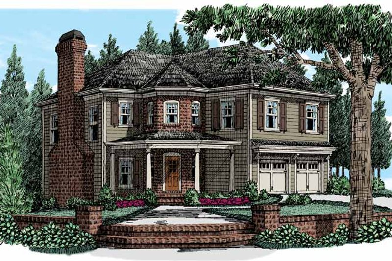 Country Exterior - Front Elevation Plan #927-947