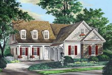 Architectural House Design - Country Exterior - Front Elevation Plan #137-335