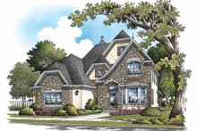 Dream House Plan - European Exterior - Front Elevation Plan #929-838
