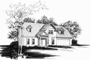 Traditional Style House Plan - 3 Beds 2 Baths 1839 Sq/Ft Plan #30-208 Exterior - Other Elevation