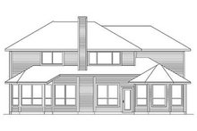 House Design - Traditional Exterior - Rear Elevation Plan #84-272
