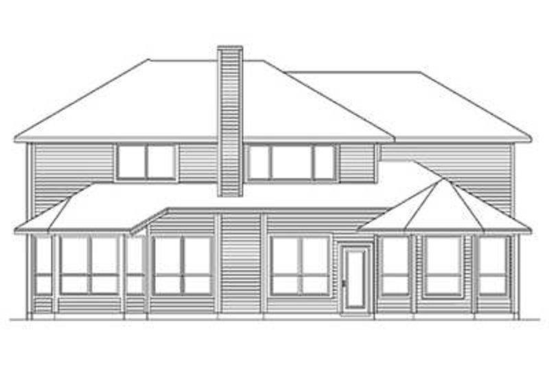 Traditional Exterior - Rear Elevation Plan #84-272 - Houseplans.com