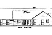Traditional Style House Plan - 3 Beds 2 Baths 1470 Sq/Ft Plan #42-109 Exterior - Rear Elevation
