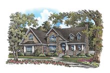 European Exterior - Front Elevation Plan #929-907