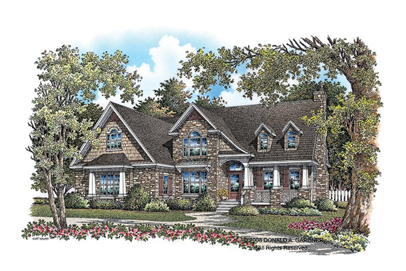 Architectural House Design - European Exterior - Front Elevation Plan #929-907