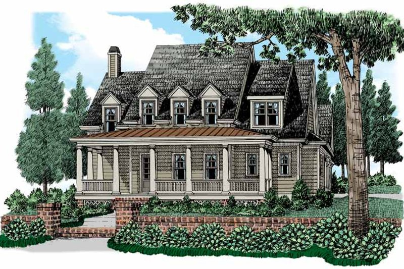 Colonial Exterior - Front Elevation Plan #927-527