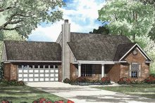 Ranch Exterior - Front Elevation Plan #17-2984
