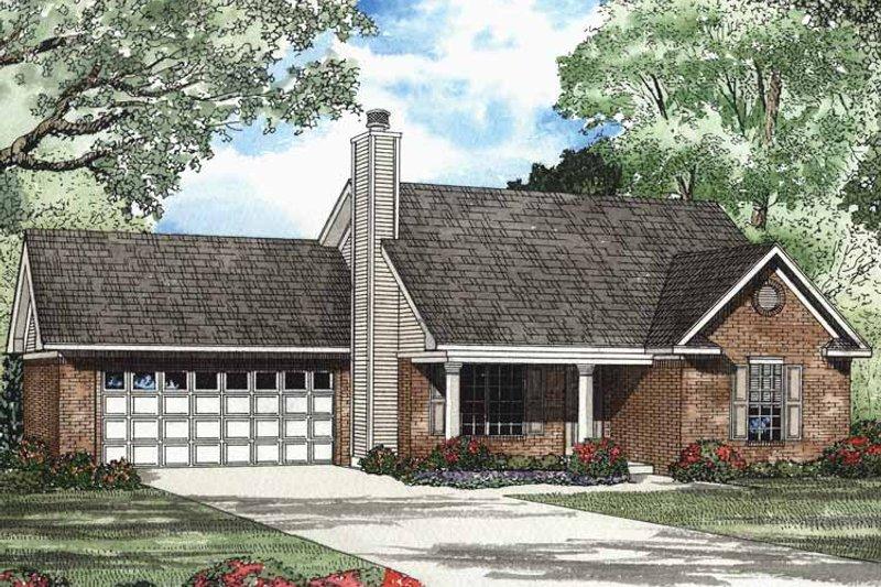 Ranch Exterior - Front Elevation Plan #17-2984 - Houseplans.com