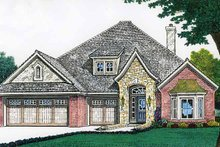 Country Exterior - Front Elevation Plan #310-1195