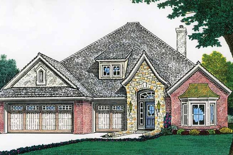 Dream House Plan - Country Exterior - Front Elevation Plan #310-1195