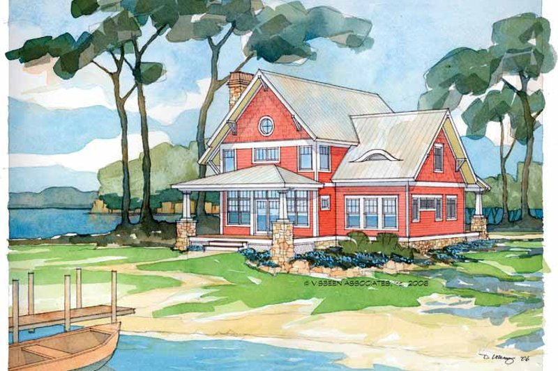 Traditional Style House Plan - 3 Beds 2.5 Baths 1945 Sq/Ft Plan #928-17 Exterior - Front Elevation