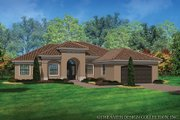 Mediterranean Style House Plan - 3 Beds 2 Baths 2042 Sq/Ft Plan #930-453 Exterior - Front Elevation