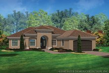 House Plan Design - Mediterranean Exterior - Front Elevation Plan #930-453
