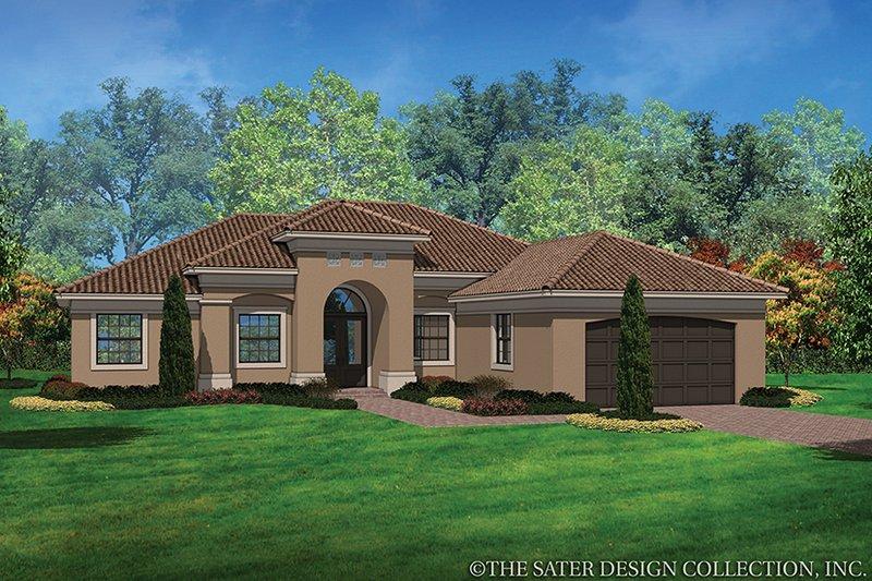 House Plan Design - Mediterranean Exterior - Front Elevation Plan #930-453