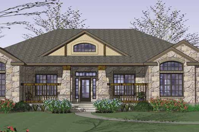 Home Plan - Country Exterior - Front Elevation Plan #120-201