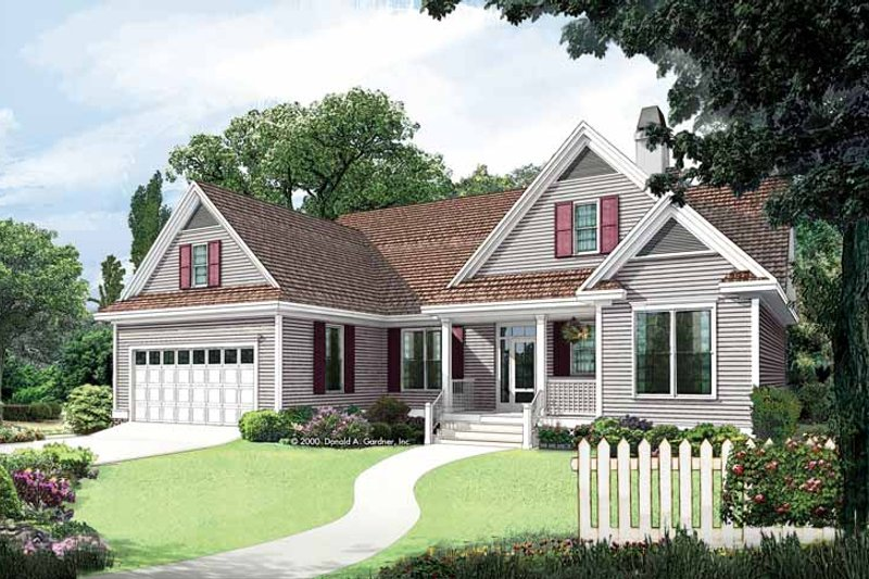 Dream House Plan - Country Exterior - Front Elevation Plan #929-555