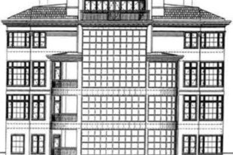 Classical Exterior - Rear Elevation Plan #119-191 - Houseplans.com