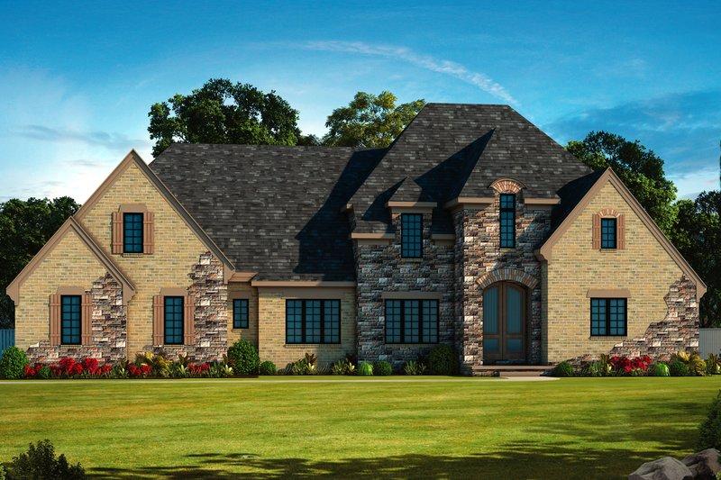 Dream House Plan - European Exterior - Front Elevation Plan #20-2472