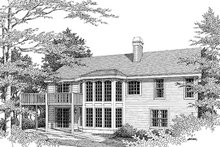 House Plan Design - Traditional Exterior - Other Elevation Plan #57-271