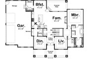 Beach Style House Plan - 4 Beds 3 Baths 2526 Sq/Ft Plan #455-210 Floor Plan - Main Floor Plan