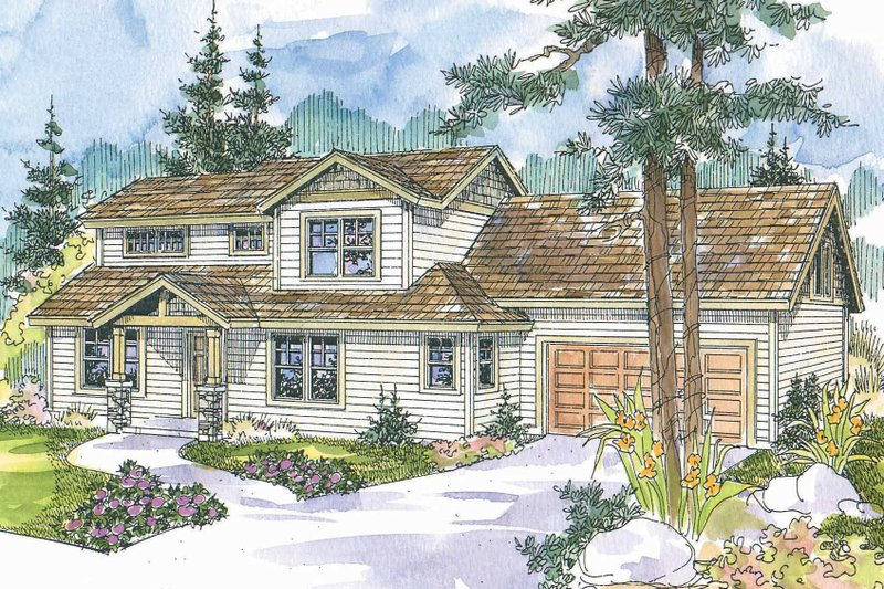 Craftsman Exterior - Front Elevation Plan #124-718