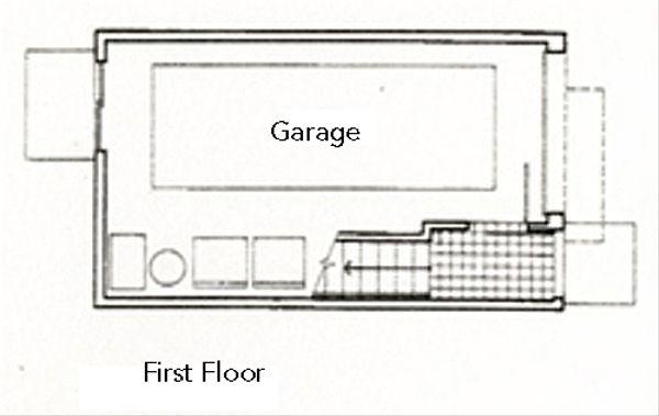 Modern Floor Plan - Lower Floor Plan #511-3