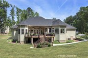 European Style House Plan - 4 Beds 3 Baths 2812 Sq/Ft Plan #929-877 Exterior - Rear Elevation