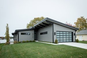 Dream House Plan - Contemporary Exterior - Front Elevation Plan #928-345
