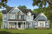 Traditional Style House Plan - 4 Beds 2.5 Baths 2334 Sq/Ft Plan #1010-224 Exterior - Front Elevation