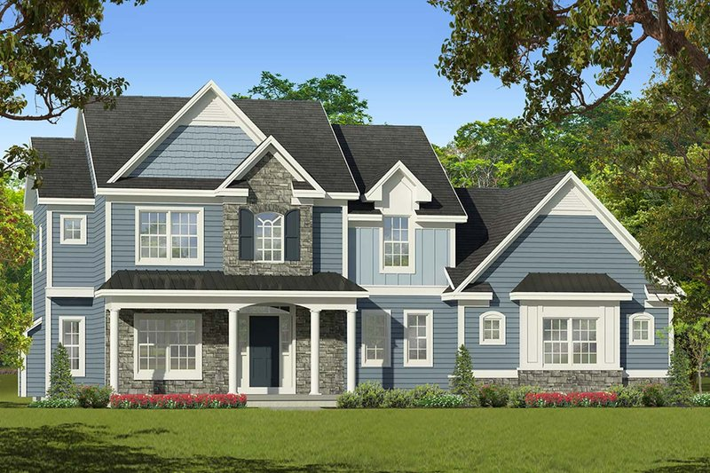 Architectural House Design - Traditional Exterior - Front Elevation Plan #1010-224