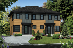 Contemporary Exterior - Front Elevation Plan #25-4378