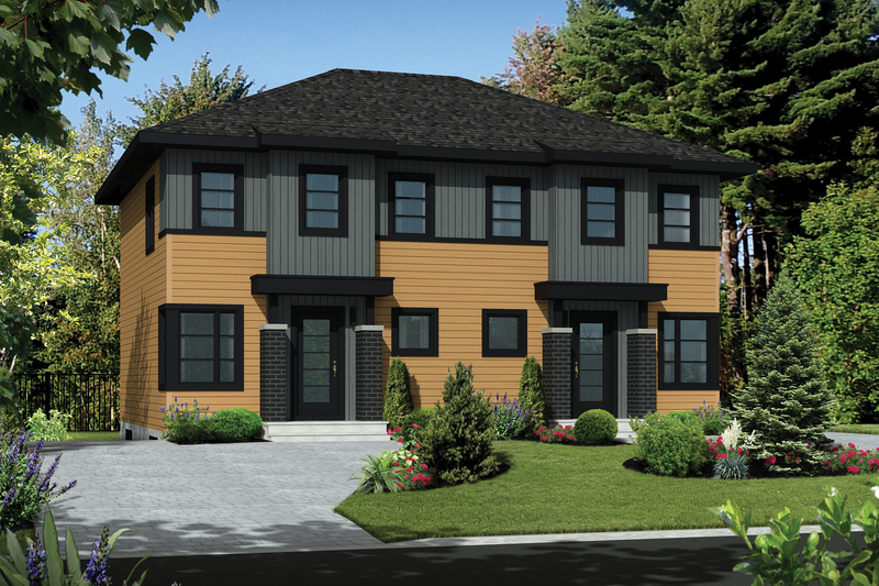 Contemporary Style House Plan - 5 Beds 2 Baths 2421 Sq/Ft Plan #25-4378 Exterior - Front Elevation