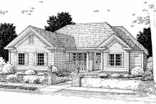Architectural House Design - Traditional style home, front elevation
