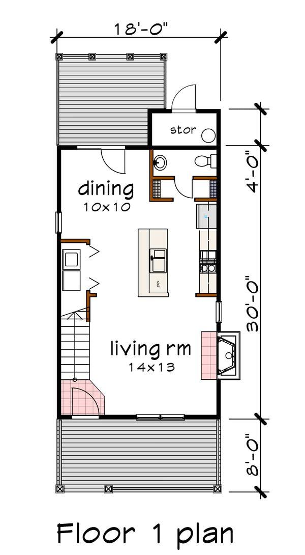 Dream House Plan - Colonial Floor Plan - Main Floor Plan #79-133