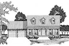 Home Plan - Country Exterior - Front Elevation Plan #36-165