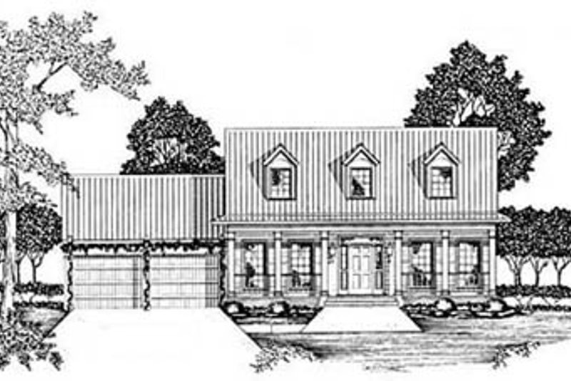 Country Exterior - Front Elevation Plan #36-165