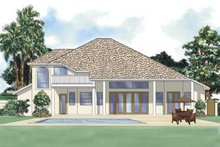 House Plan Design - Mediterranean Exterior - Rear Elevation Plan #930-27